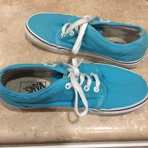 Vans Lace Up Sneakers in Teal Sz 9.5